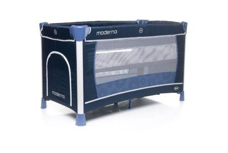 Travel Cot  MODERNO NAVY BLUE