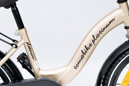 1801 Bicycle of TOMABIKE Platinum-18' Gold/black