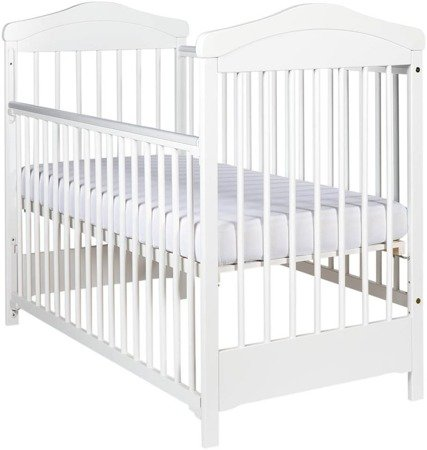 Wooden Cot HIPPO drop side white